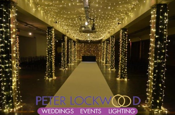 Fairy Light Wedding Aisle