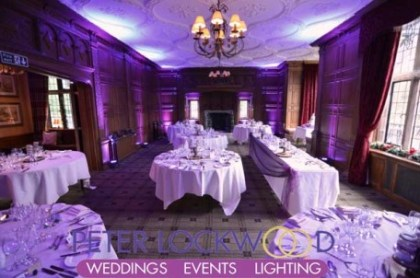 Inglewood Manor UpLighting by Peter Lockwood Events