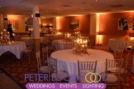 Worsley Park Marriott Hotel wedding lighting