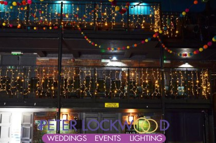 Picturedrome Holmfirth Wedding fairy Lighting