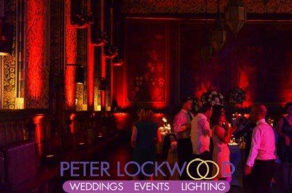 red wedding uplighting