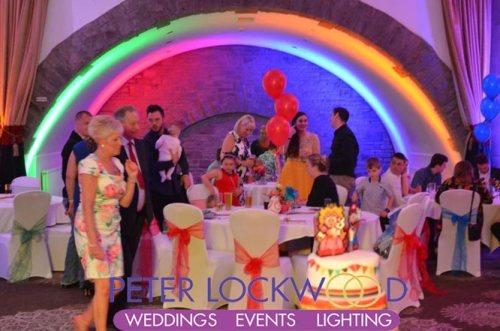 Rainbow Wedding Lighting