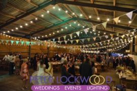 wedding Barn Festoon Lighting