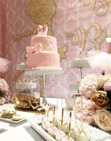 Ballerina Theme Party Cake