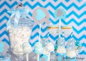 Blue Elephant Theme Birthday Party Food 10