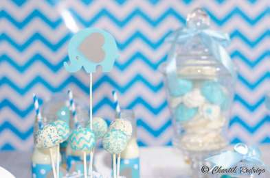Blue Elephant Theme Birthday Party Food