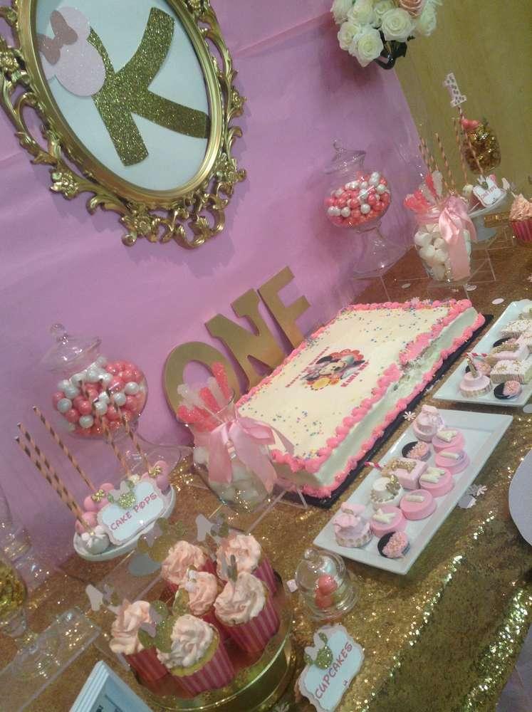 Kimia S Royal Minnie Mouse Theme 1st Birthday Party
