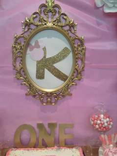 Royal Minnie Mouse Theme Birthday Party Decoration 8