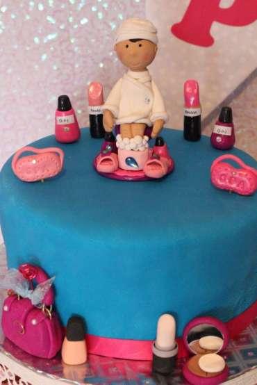 Spa Theme Birthday Party Cake 1