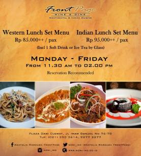 FrontPage Lunch Promo
