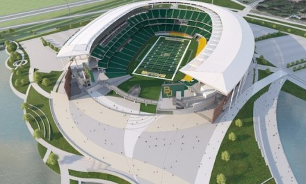 Baylor Football's New Welcome Sign