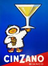 Cinzano Bianco (Eskimo), Original Color Poster