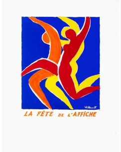 """""""La Fete de L'affiche"""" 1984, 33 x 21.25 (inches) $1400"""