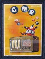 """GMR (radio)"" c. 1930, 51.5 x 37 $3200 black frame"