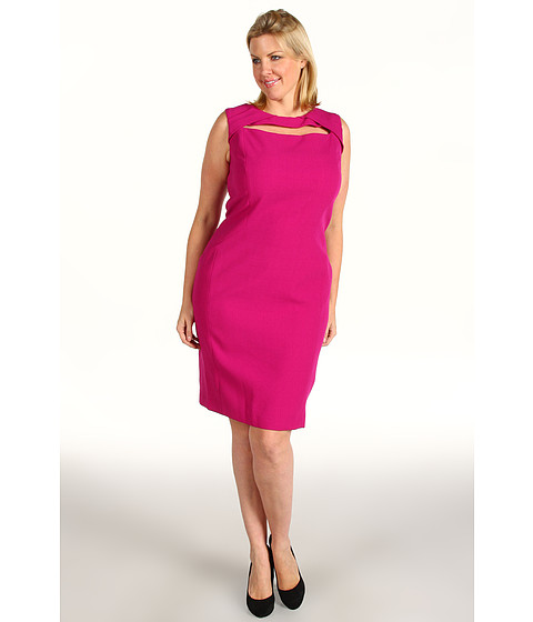 Anne Klein Plus Plus Size Fitted Sheath Dress