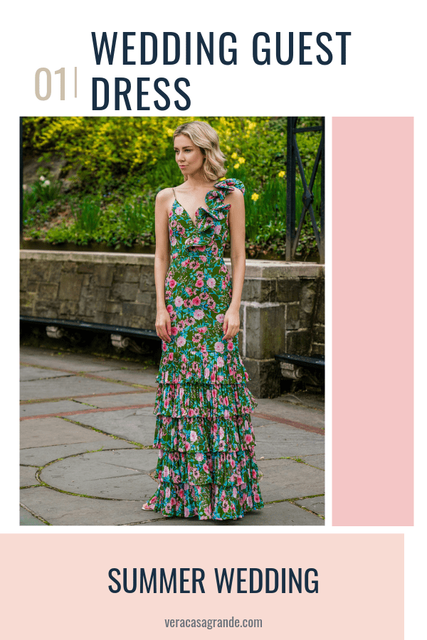 Summer Wedding Guest Wedding guest dresses by designer AMUR Find a wedding guest dress for a summer or spring wedding! These floral dresses are a great pick for a wedding guest outfit in 2019