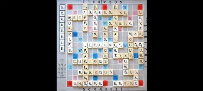 Feelings Scrabble Art
