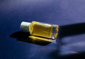 botle of perfume from Abel brand Cobalt Amber