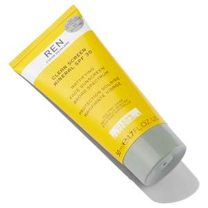 Tube with Ren Clean Skin Mineral Sunscreen SPF 30