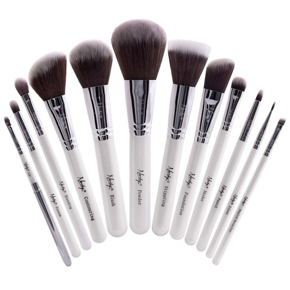 NANSHY - A sustainable brand for makeup products - here the masterful collection pearlescent white brush 12 pices