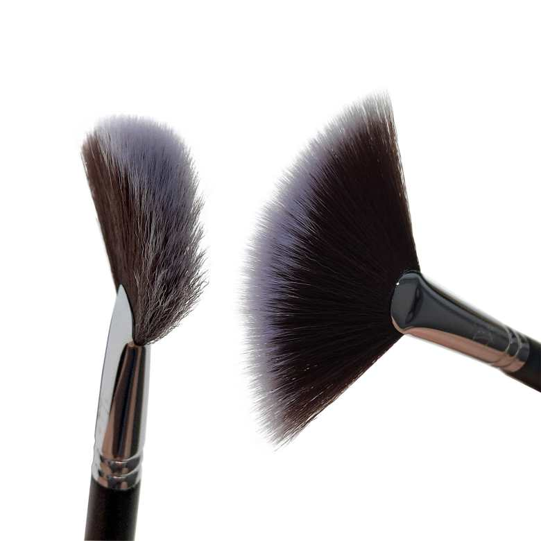 sustainable makeup brand Nanshy-fan-brush-bristles