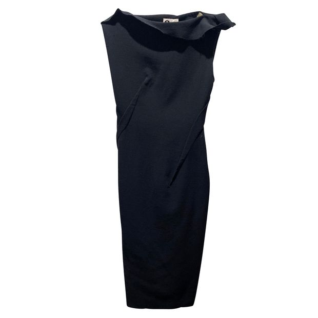 Lanvin Black Woolen Dress from Style tribute plataform and can be seen at veragallardo blog site