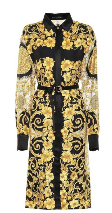 Versace Black and Gold Baroque Silk Dress to see at HEWI Plataform or to discover more at veragallardo.com site