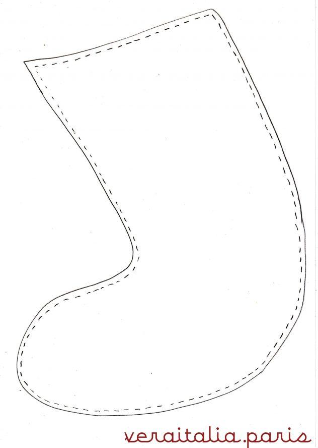 patronage de la chaussette de la Befana by VeraItalia.paris