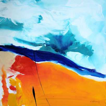 No. 382 Acrylic on canvas 60x 60 cm