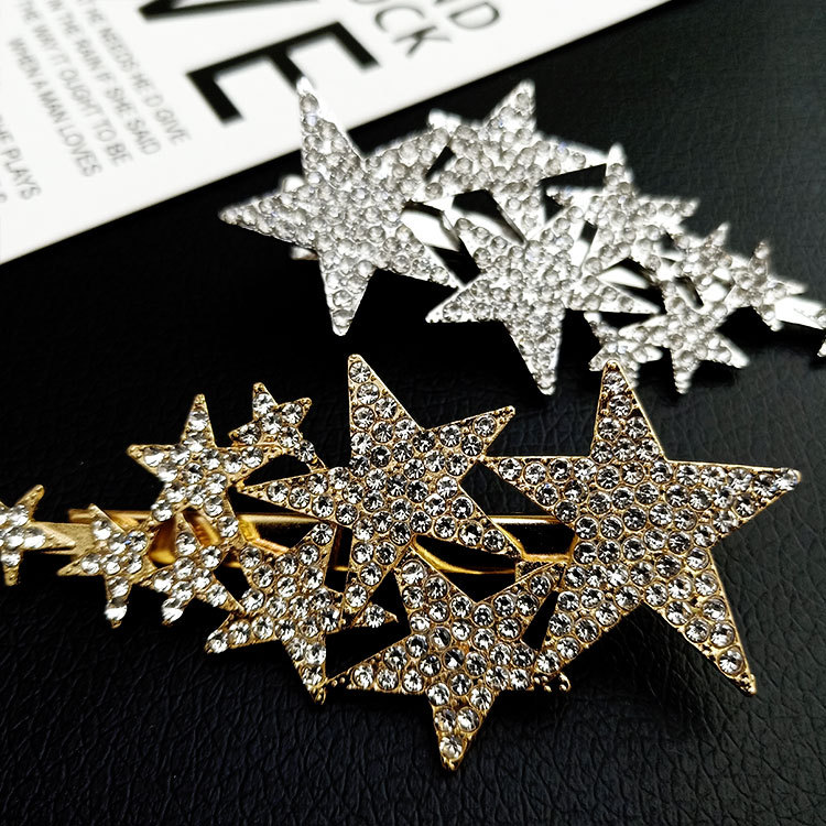 Broche Clip De Estrellas Accesorio Decorativo Para Cabello