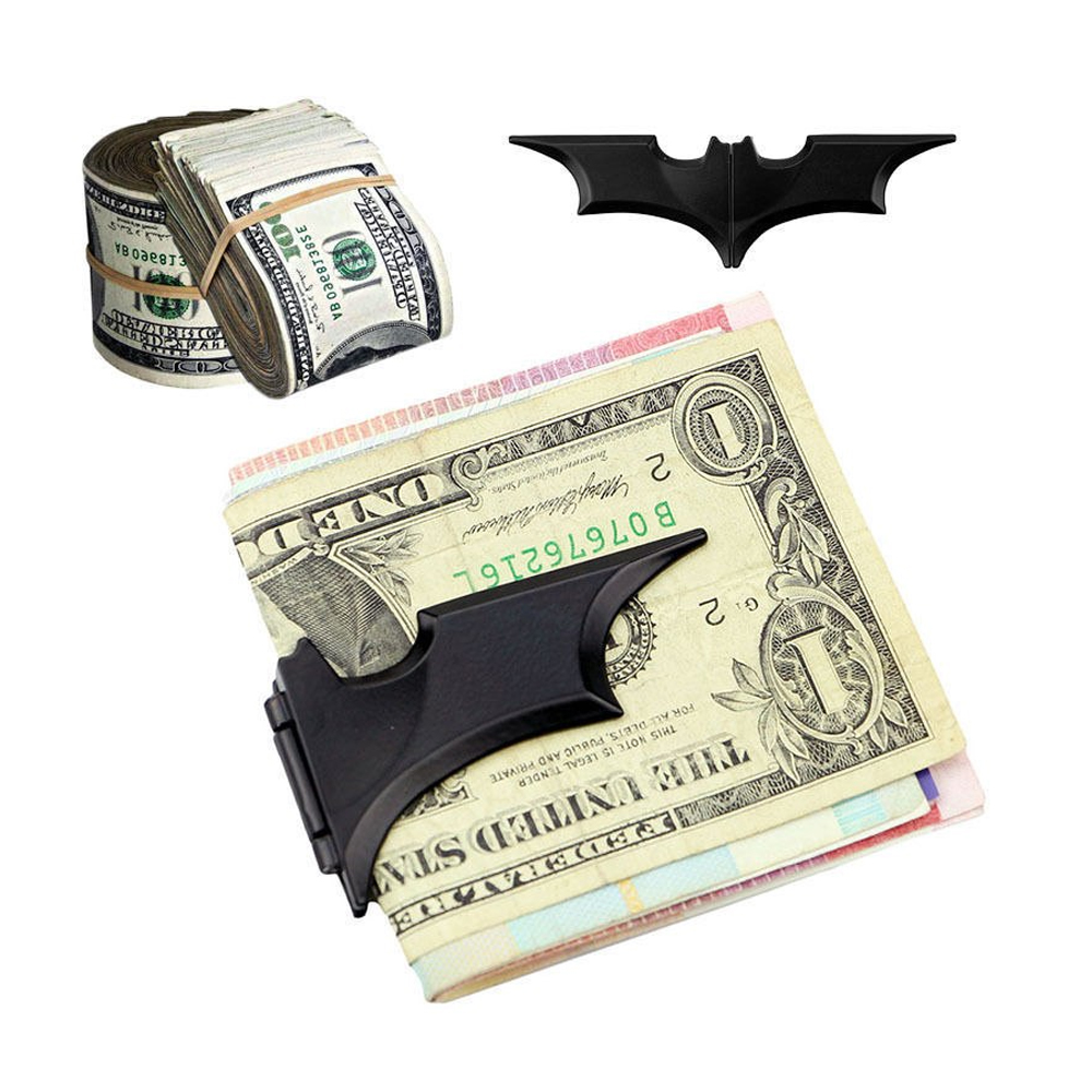 Clip Magnético Plegable Batman Para Sujetar Billetes Color Negro Matte