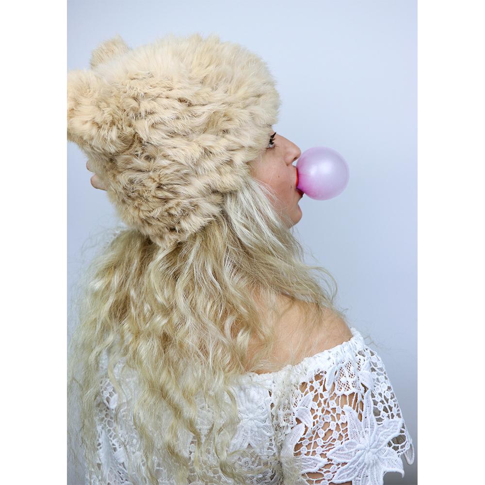 ... Gorro Invierno Piel de Conejo Extra Suave A la Moda. Previous  Next 746409ef14c