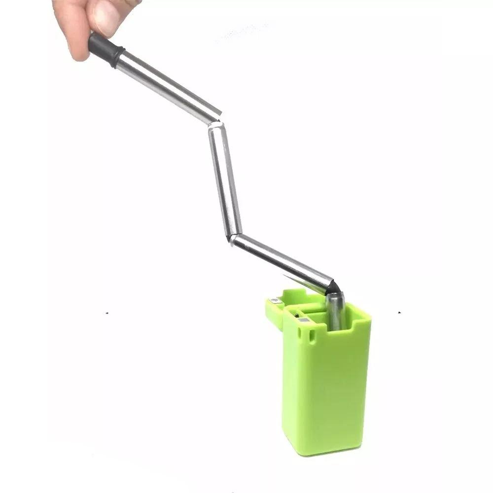 Popote De Acero Inoxidable Ecológico Flexible Reutilizable Portátil