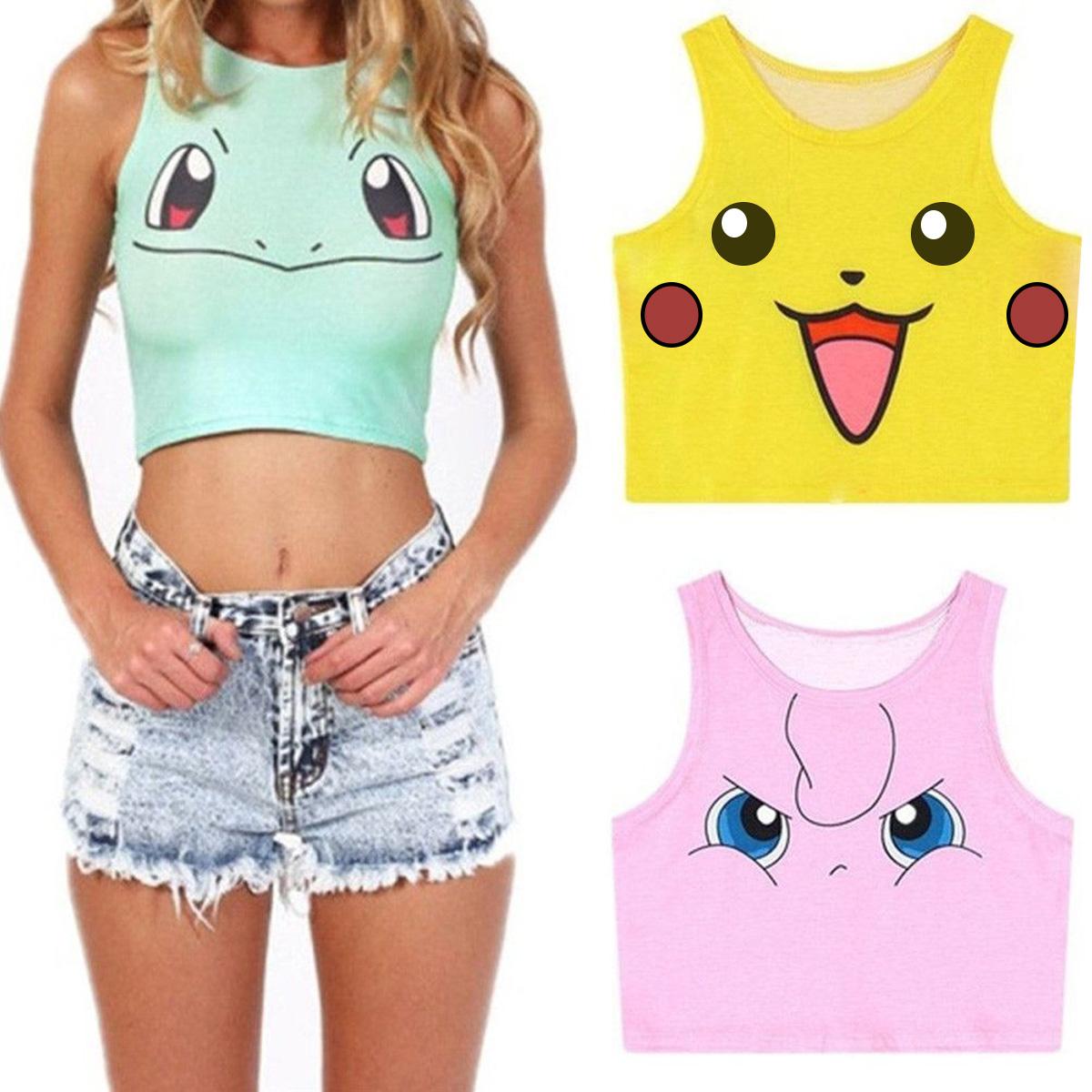 Blusa Top Con Estampado De Pokémon