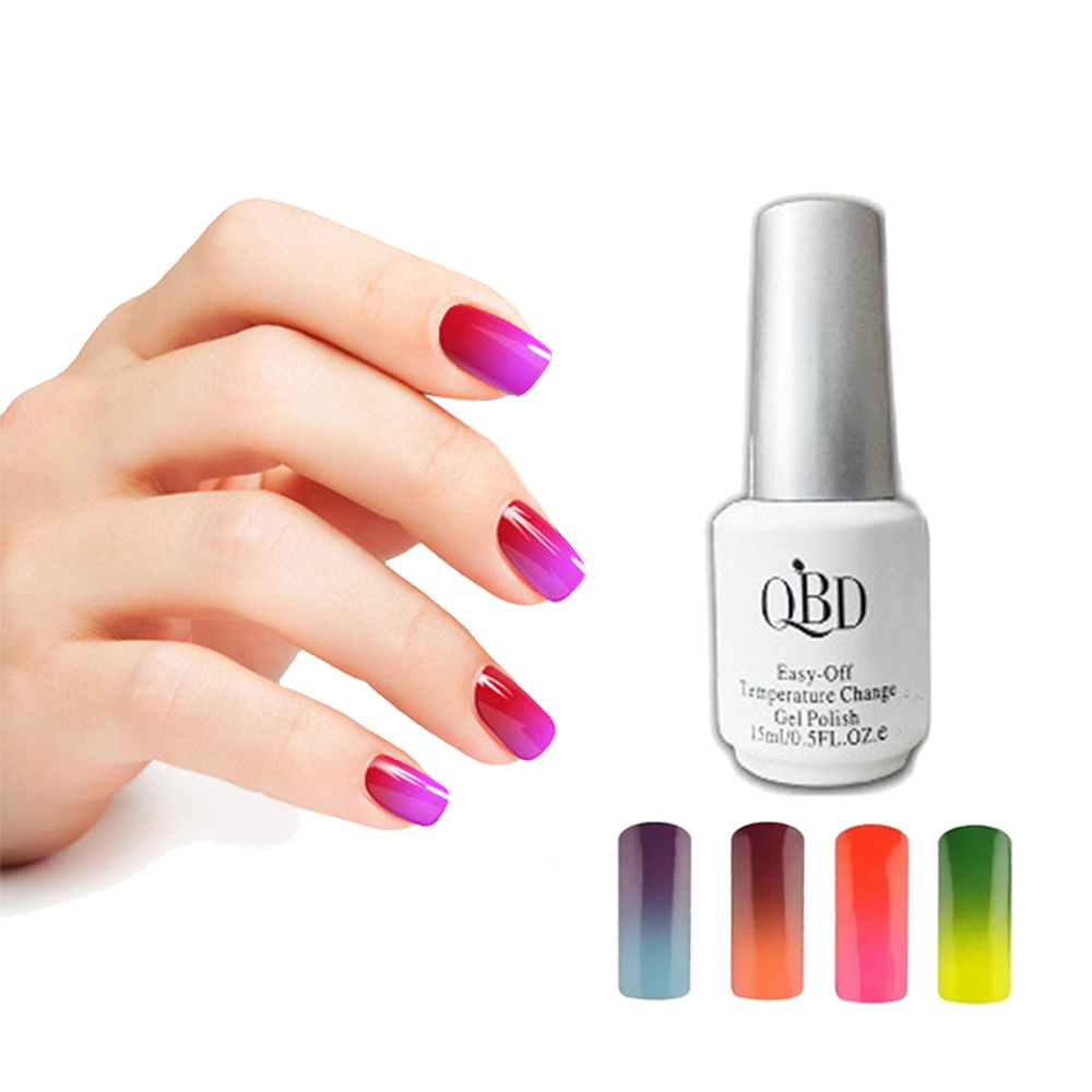Esmalte QBD Gelish 21 Días Cambia Color Temperatura 15ml