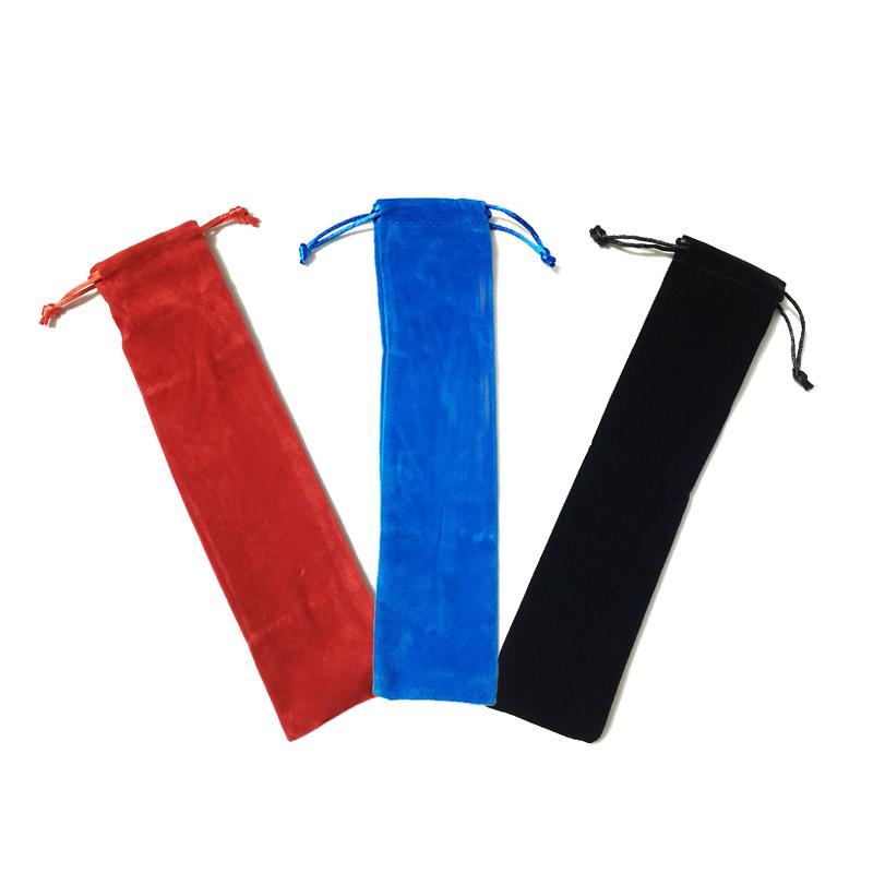 Bolsa De Terciopelo Para Guardar Popotes Y Cucharas Varios Colores