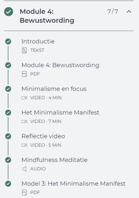 review online cursus minimalisatie