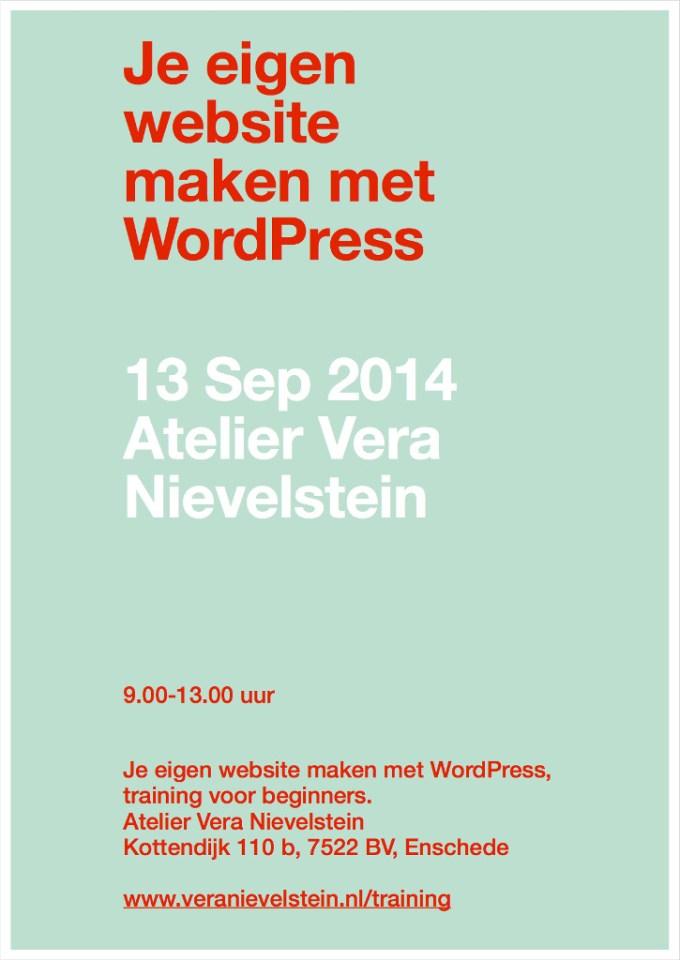 Flyer training WordPress