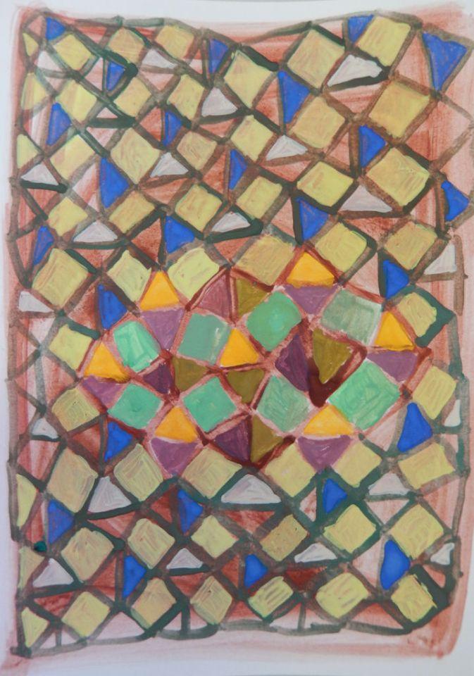 Nature's Structures 2 Eitempera op papier 10 x 15 cm