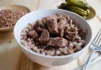 Buckwheat Kasha with Braised Beef/ Vera's Cooking/ Verascooking.com/