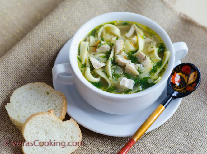 chicken noodle soup/ Vera's Cooking/ Verascooking.com/