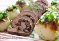 Flank Steak With Mushrooms/ Vera's Cooking/ Verascooking.com