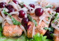 Pan Roasted Salmon with Cherry Relish/ Vera's Cooking/ Verascooking.com
