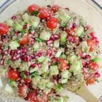 Quinoa Salad with Pomegranate/ Vera's Cooking/ Verascooking.com