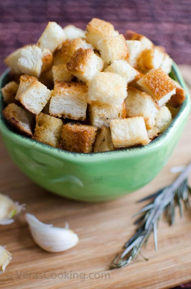 Croutons/ Vera's Cooking/ Verascooking.com/