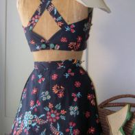 My version made from a cut up cotton French Connection skirt- personal wardrobe