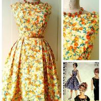 Dress from 60's Butterick pattern