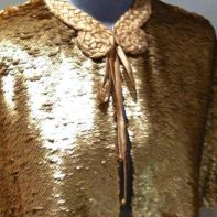 Gold sequin cape, self drafted
