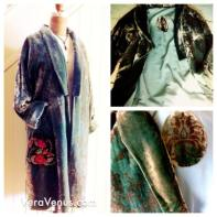 Velvet Kimono coat, early version