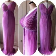 Fortuny style pleated gown for garsington Opera Co.